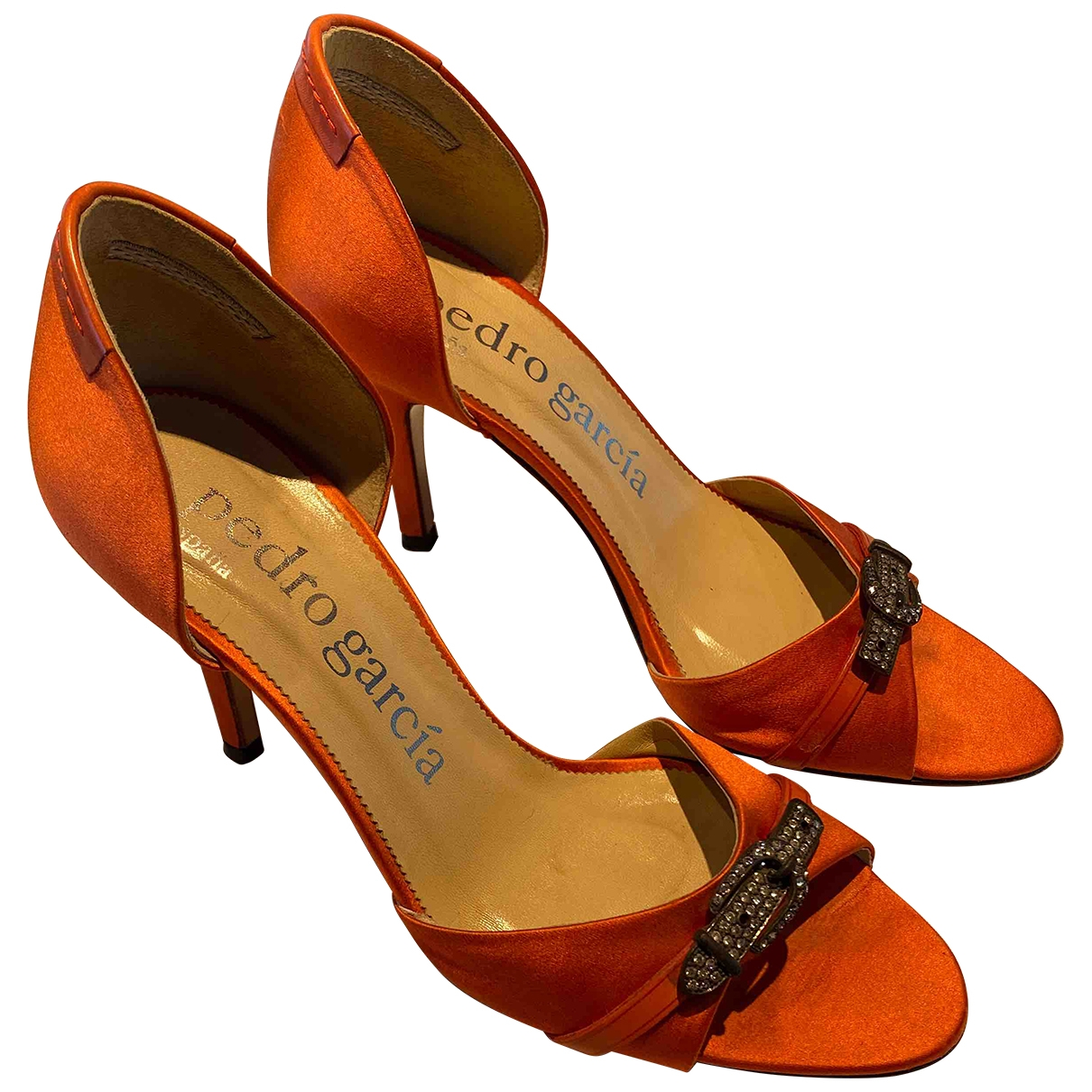 Pedro Garcia \N Orange Cloth Heels for Women 38 EU