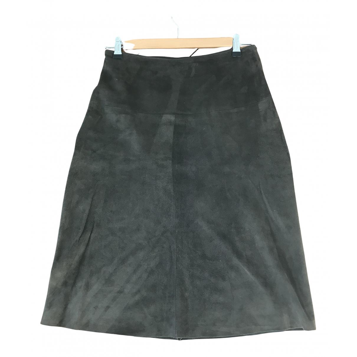 Joseph N Green Suede skirt for Women 38 FR