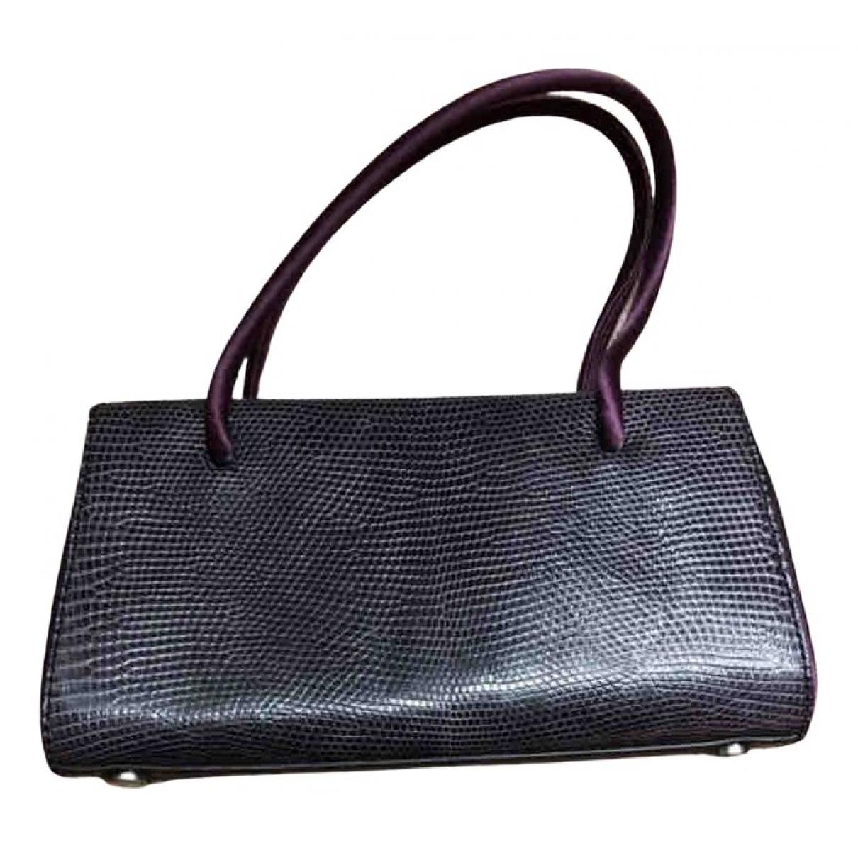 Jil Sander - Sac a main   pour femme en cuir exotique - violet