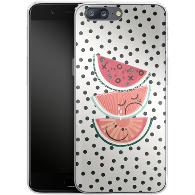 OnePlus 5 Silikon Handyhuelle - Watermelon von Victoria Topping