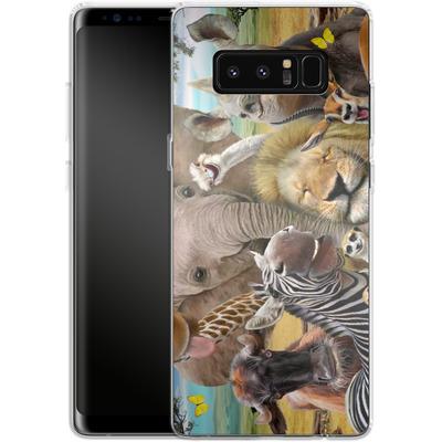 Samsung Galaxy Note 8 Silikon Handyhuelle - Africa Selfie von Howard Robinson