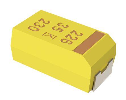 KEMET Tantalum Capacitor 22μF 16V dc MnO2 Solid ±10% Tolerance , T491 (10)