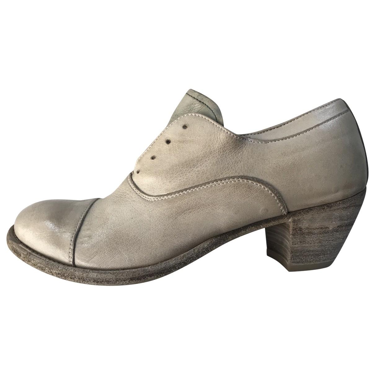 Officine Creative \N Grey Leather Heels for Women 37 EU