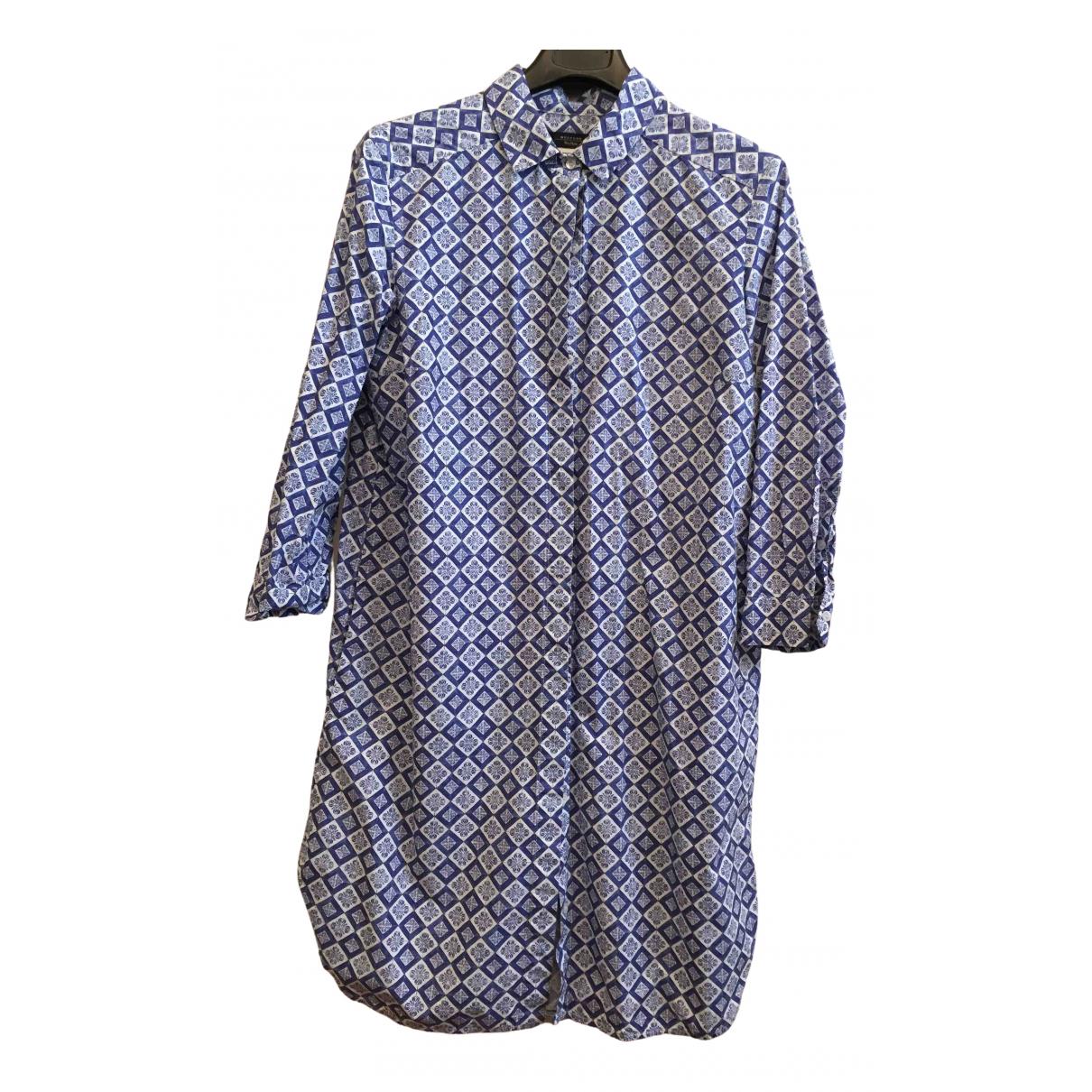 Max Mara Weekend \N Kleid in  Blau Baumwolle