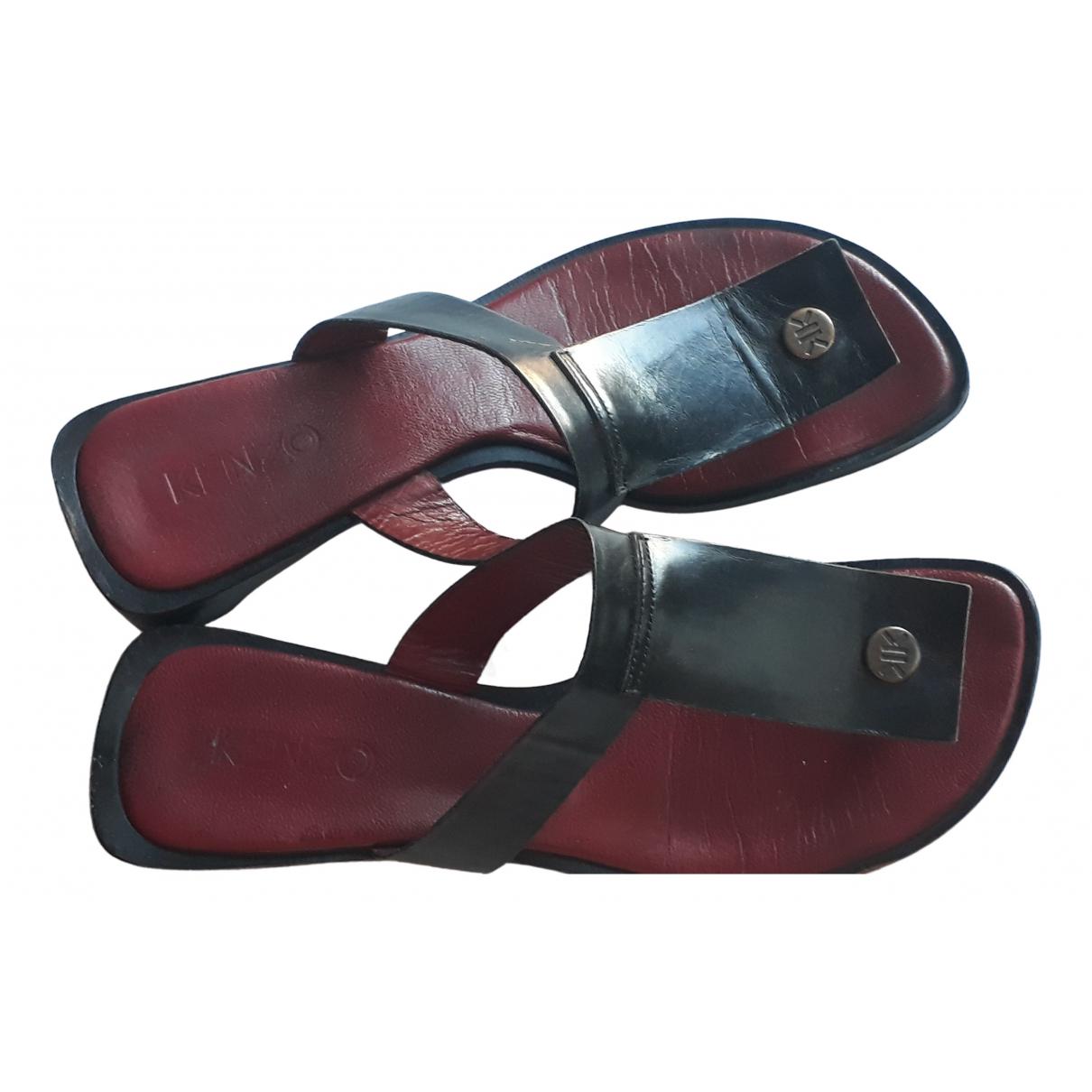 Kenzo - Sandales   pour femme en cuir - noir