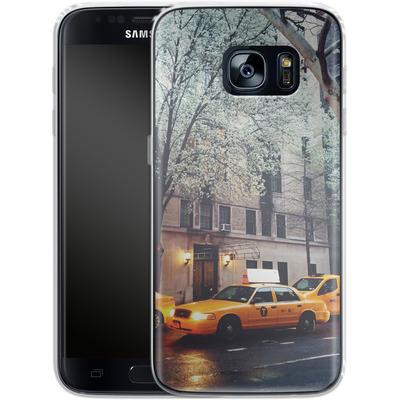 Samsung Galaxy S7 Silikon Handyhuelle - NYC Yellow Cabs von Omid Scheybani