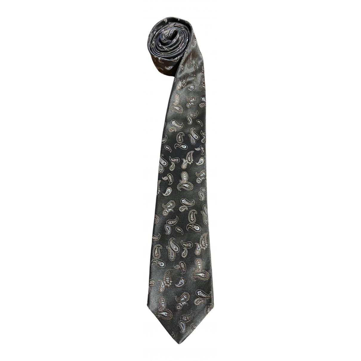 Kiton \N Krawatten in  Gruen Seide