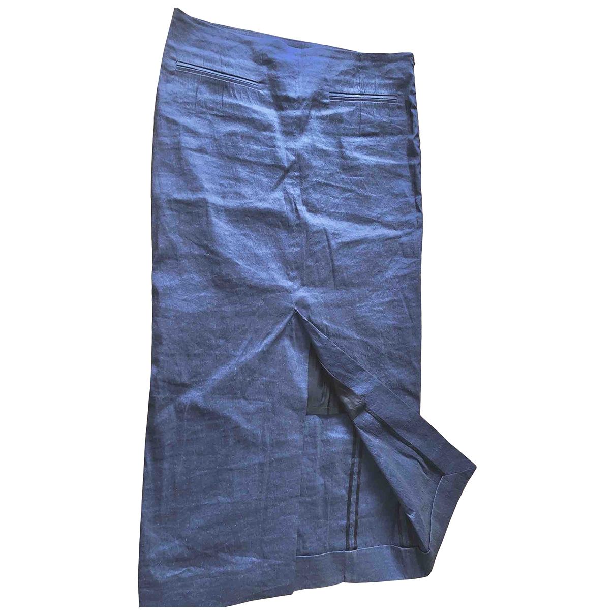 Haider Ackermann - Jupe   pour femme en soie - bleu