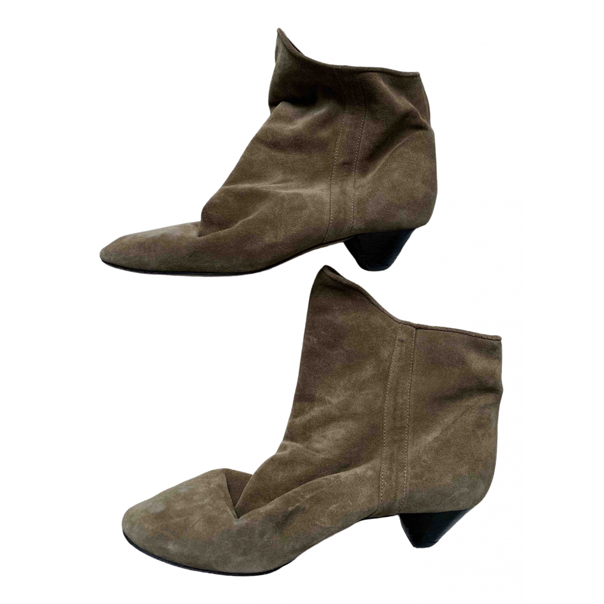 Isabel Marant \N Brown Suede Ankle boots for Women 38 EU