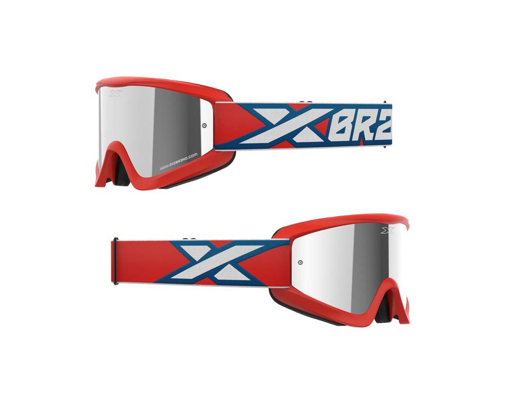 EKS Brand 067-60370 GOX Flat-Out Mirror Goggles