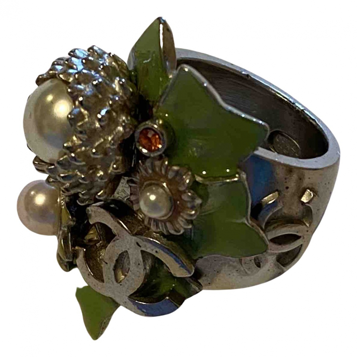 Chanel N Silver Metal ring for Women 56 EU