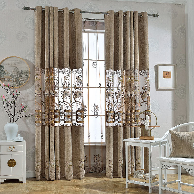 Elegant Embroidery Black Out Chenille Curtains 2 Panel Set 84 Inches Wide and 84 Inches Physically Blocks Light Nicely Prevents UV Ray Machine Wash Ac