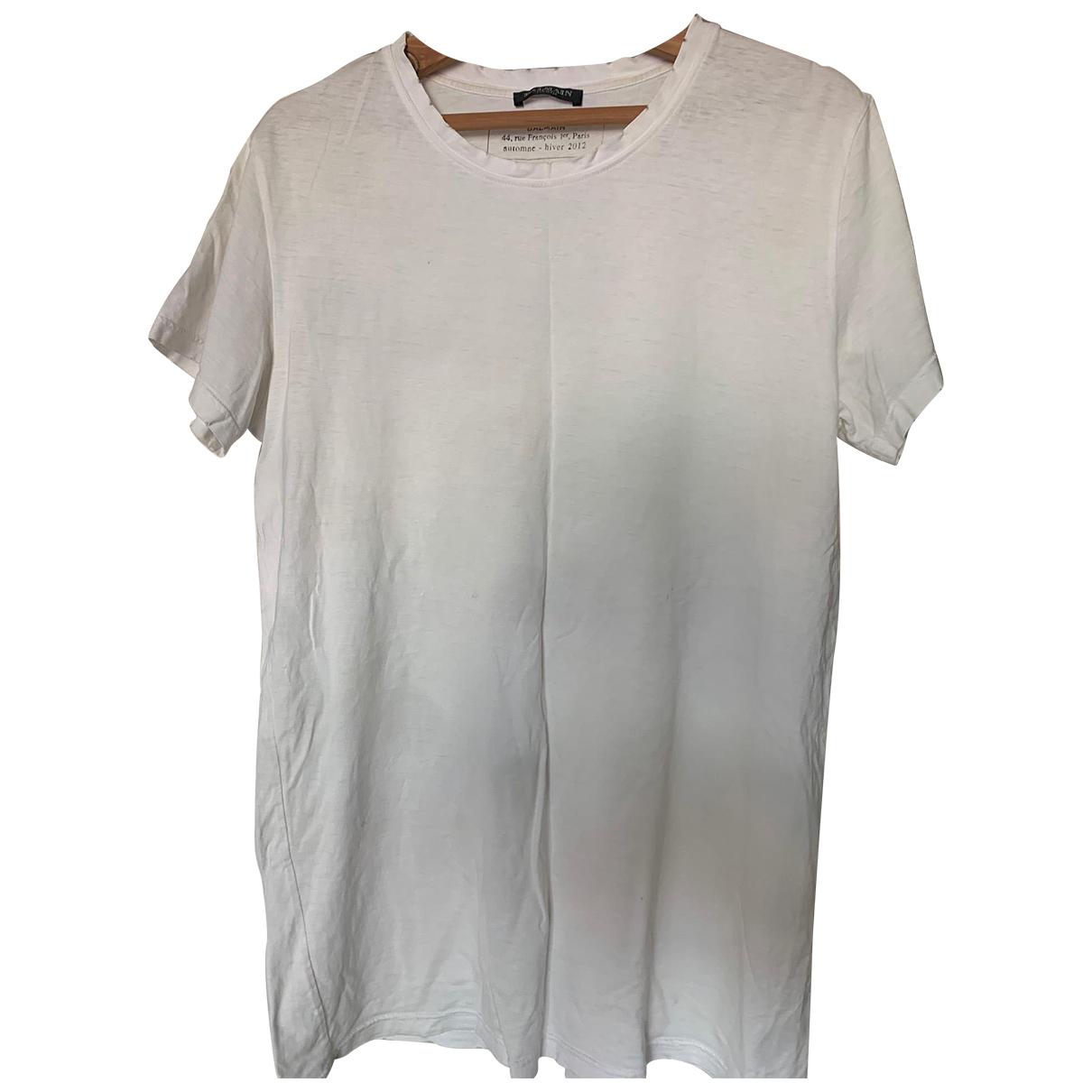 Balmain \N White Cotton T-shirts for Men M International