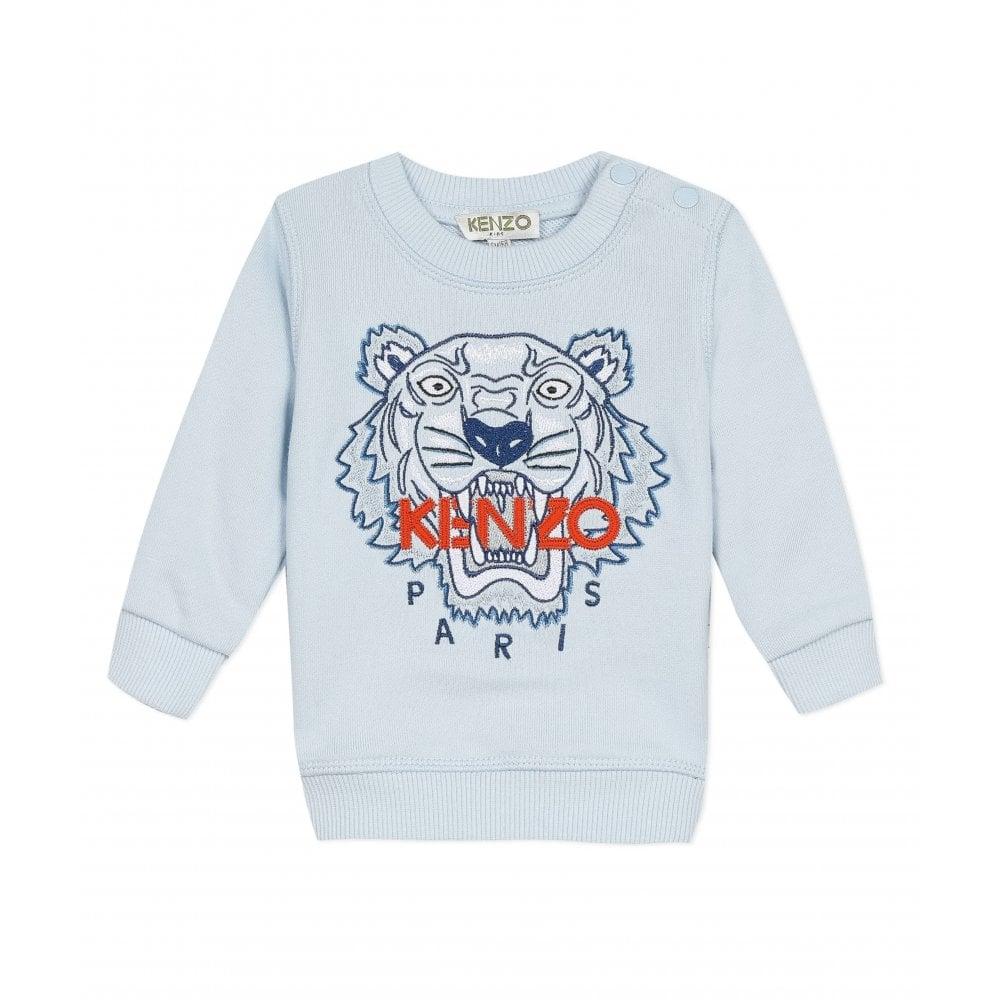 Kenzo Tiger Sweatshirt Size: 18M, Colour: BLUE