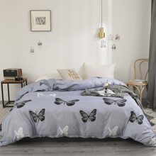Butterfly Print Duvet Cover Without Filler