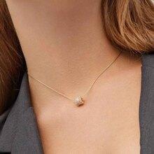 1pc Christmas Rhinestone Charm Necklace