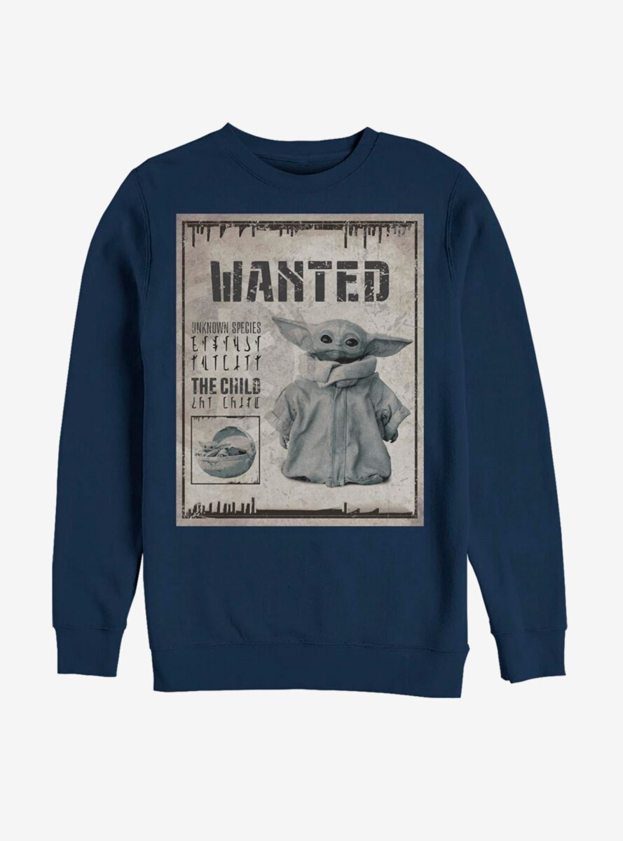 Star Wars The Mandalorian The Child Unknown Wanted Poster Sweatshirt