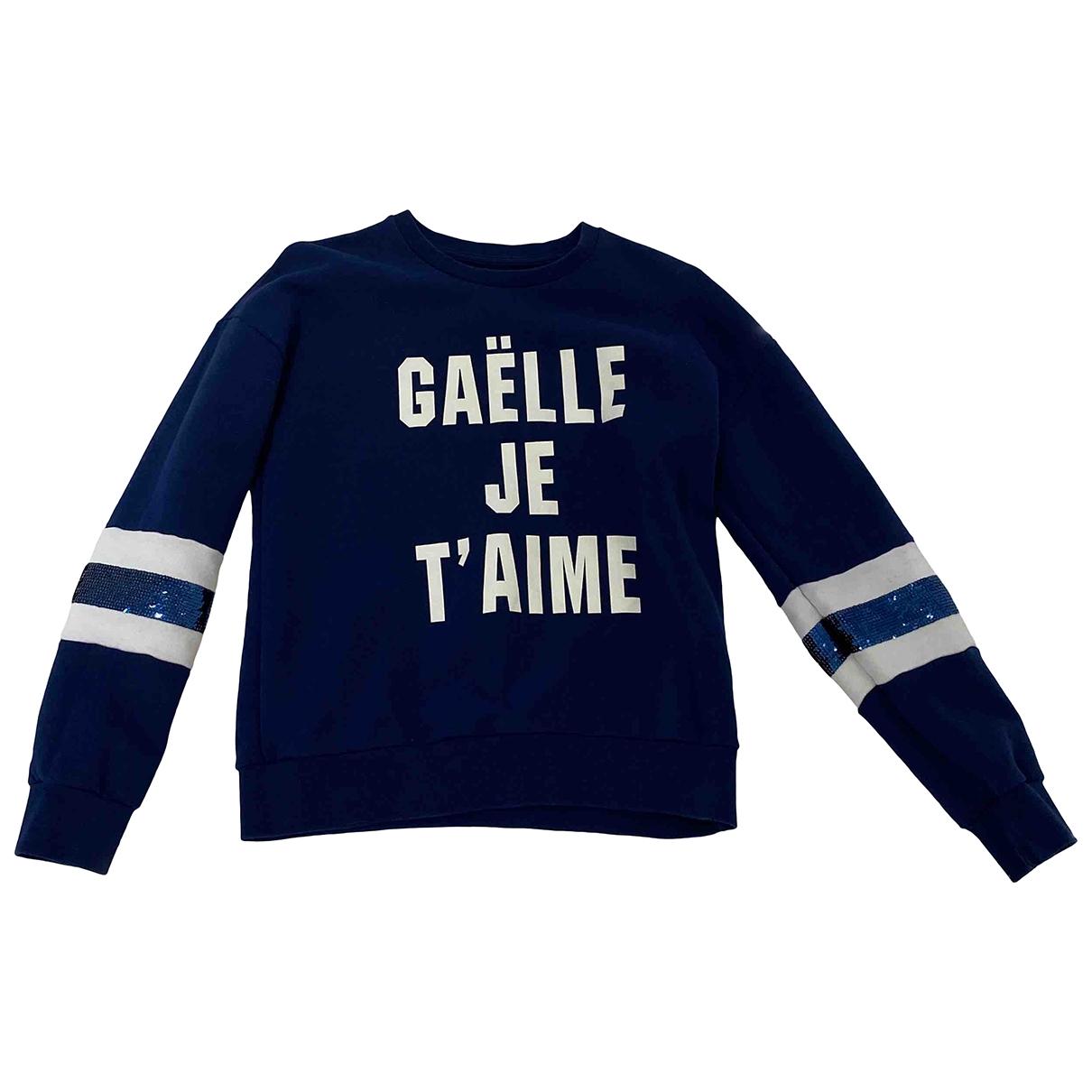 Gaelle Paris \N Top in  Blau Baumwolle