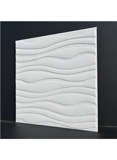 3D Foam Wall Stickers Self-adhesive Moistureproof Mildew White Wall Decorations 1 Piece 23.6x23.6inch