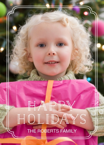 Holiday Photo Cards 5x7 Cards, Premium Cardstock 120lb, Card & Stationery -Stencil Frame Greeting