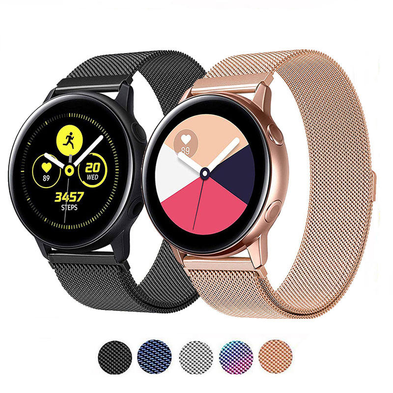 Bakeey Milanese Stainless Steel Watch Band for Samsung Galaxy Watch Active