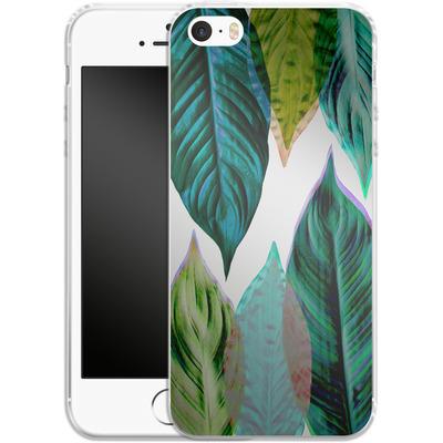 Apple iPhone SE Silikon Handyhuelle - Green Leaves von Mareike Bohmer