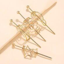 4 piezas horquilla con diseño de estrella