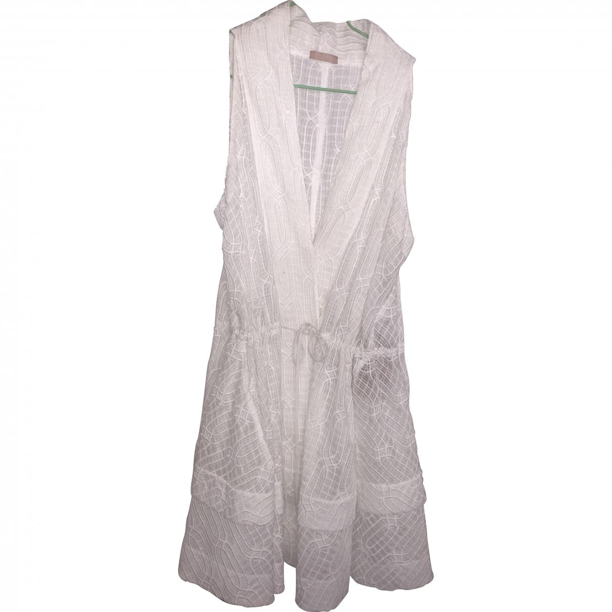 Alaïa \N White Cotton dress for Women 36 FR