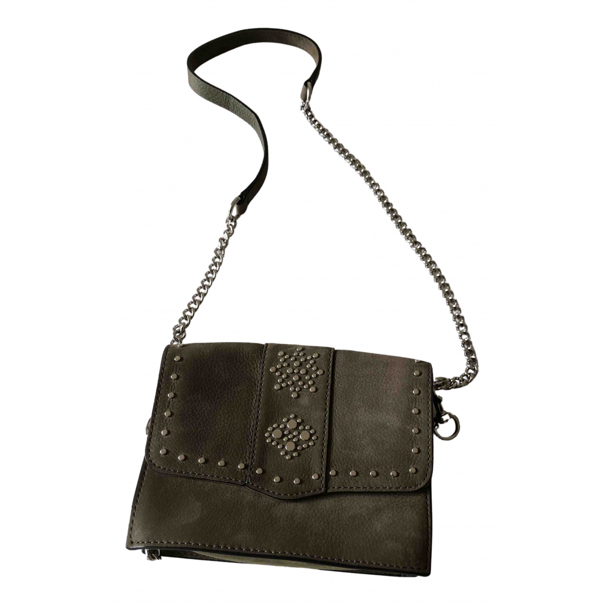 Rebecca Minkoff \N Clutch in  Gruen Veloursleder