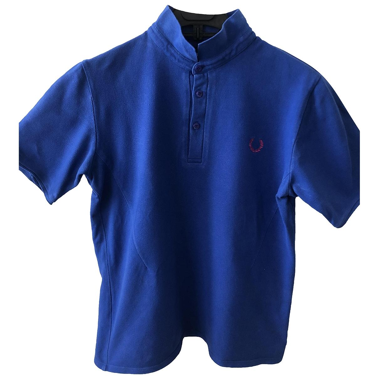 Raf Simons - Polos   pour homme en coton - bleu