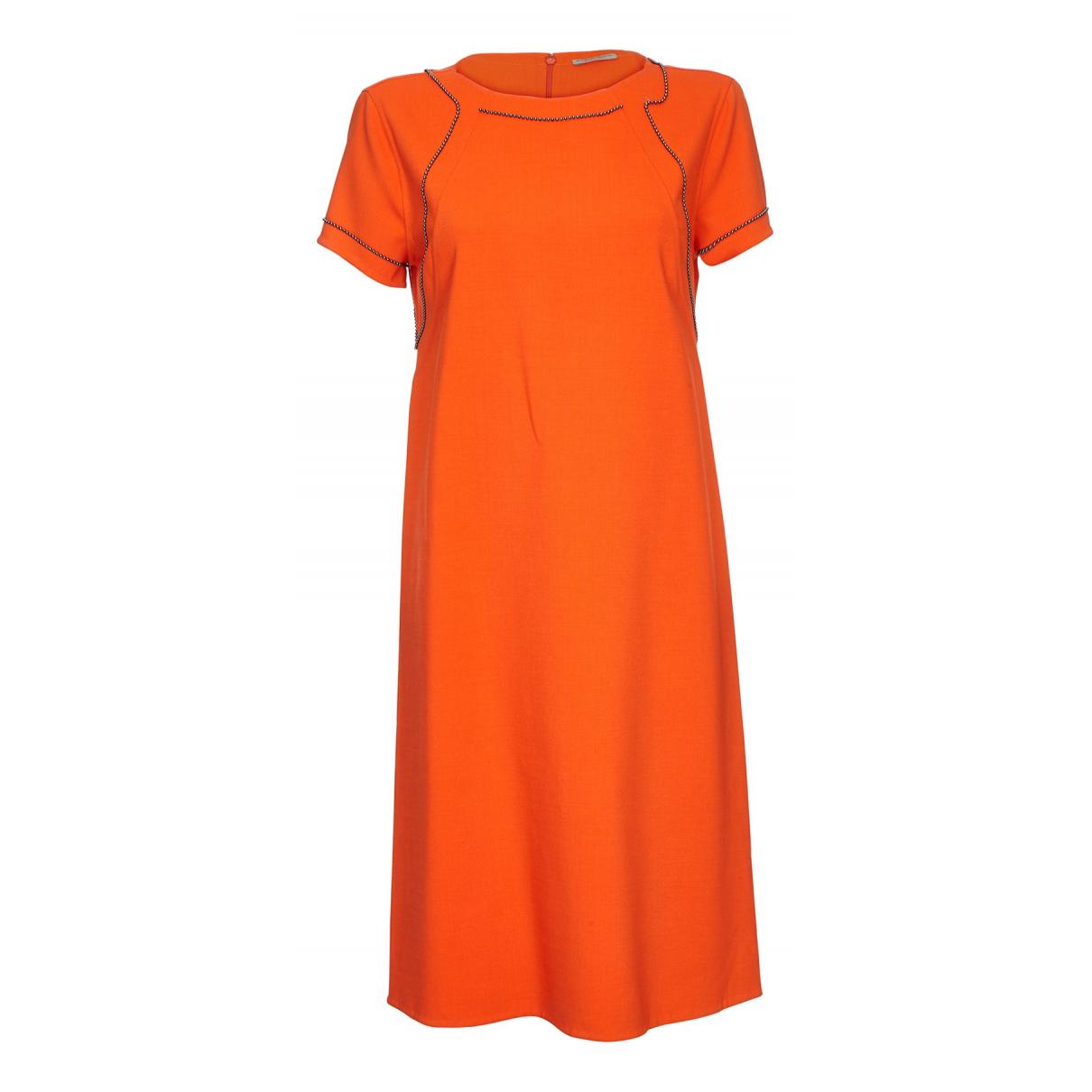 Bottega Veneta \N Kleid in  Orange Baumwolle