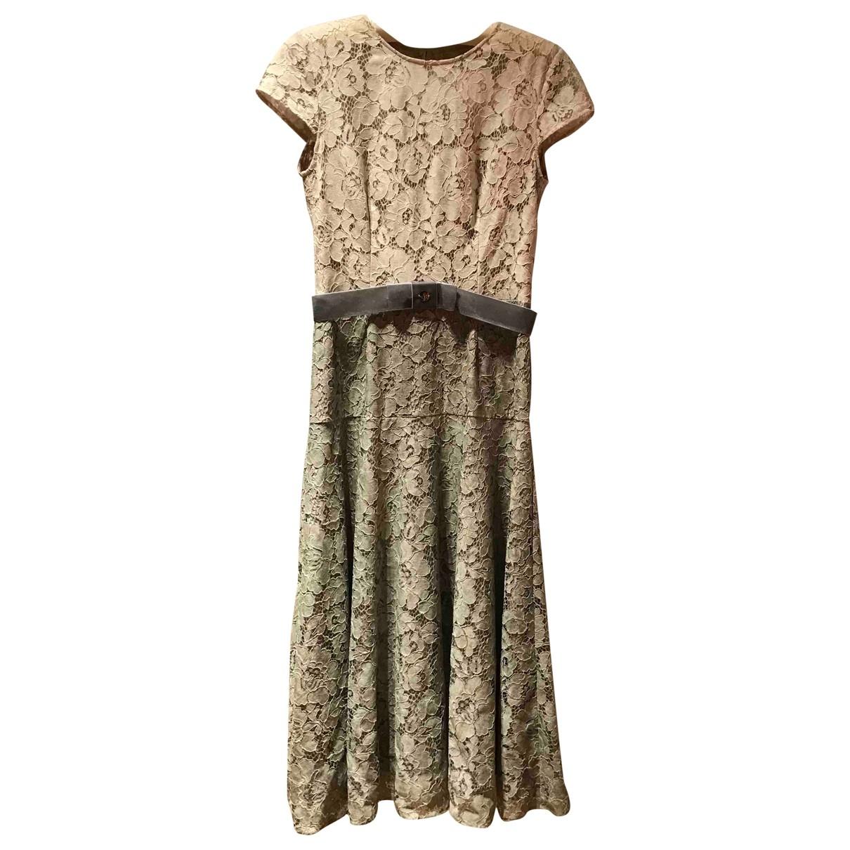 Non Signe / Unsigned \N Kleid in  Ecru Spitze