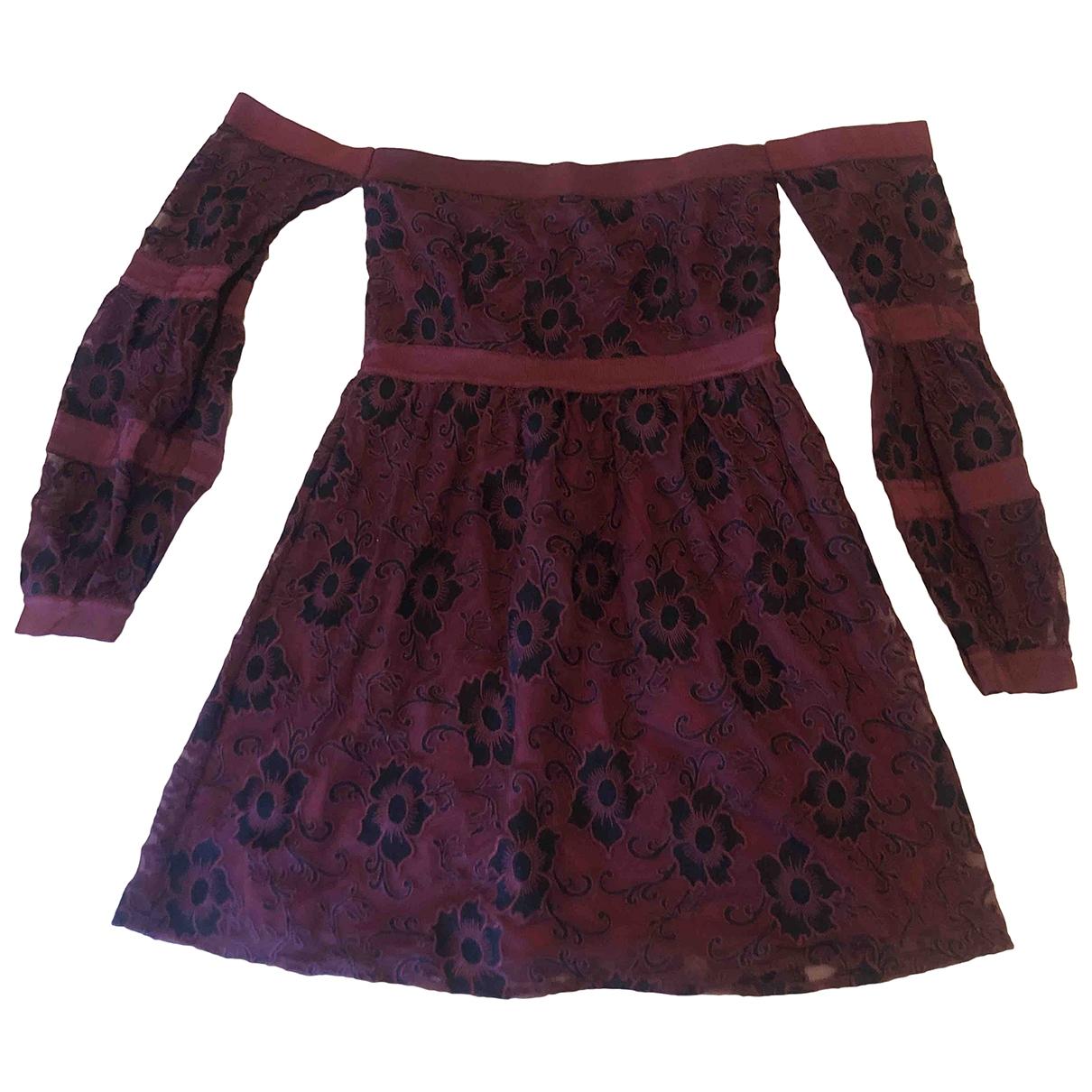 For Love & Lemons \N Kleid in  Bordeauxrot Polyester