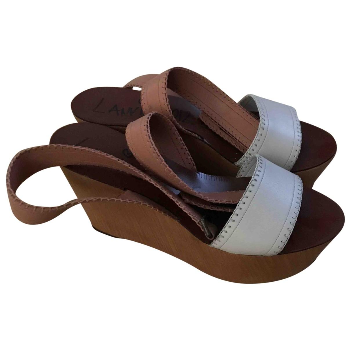 Lanvin \N Beige Leather Sandals for Women 41 EU