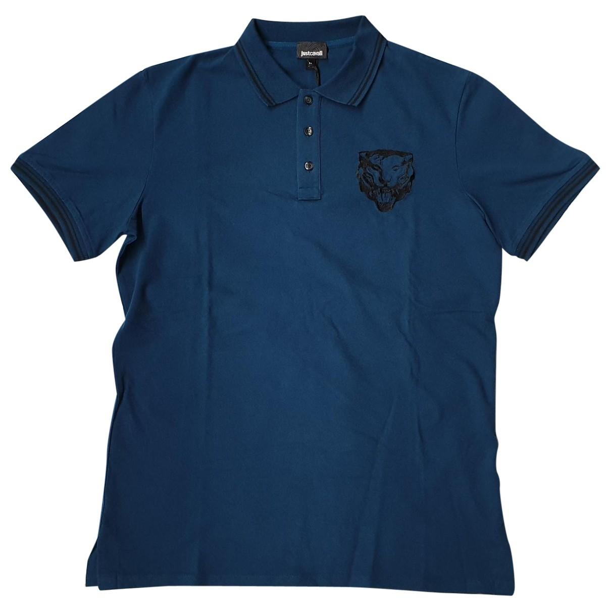 Polo en Algodon Azul Just Cavalli