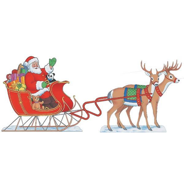 Woodworking Project Paper Plan to Build Santa And Sleigh, Plan No. 919
