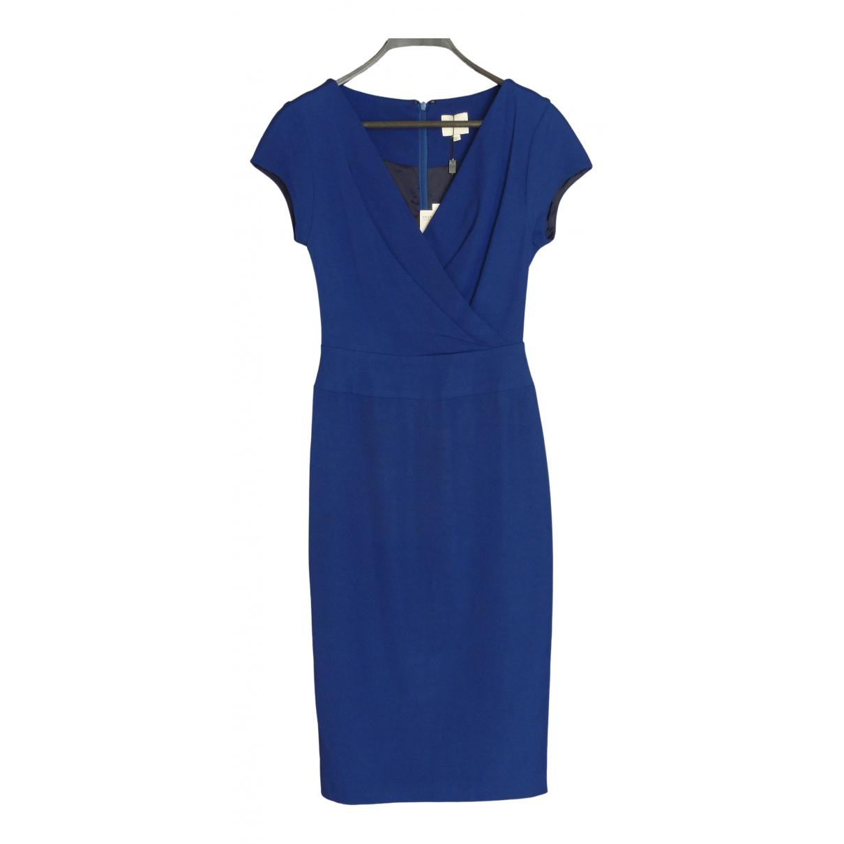 Reiss \N Kleid in  Blau Viskose