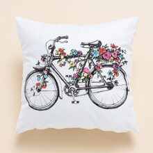 Bicycle Print Cushion Cover Without Filler