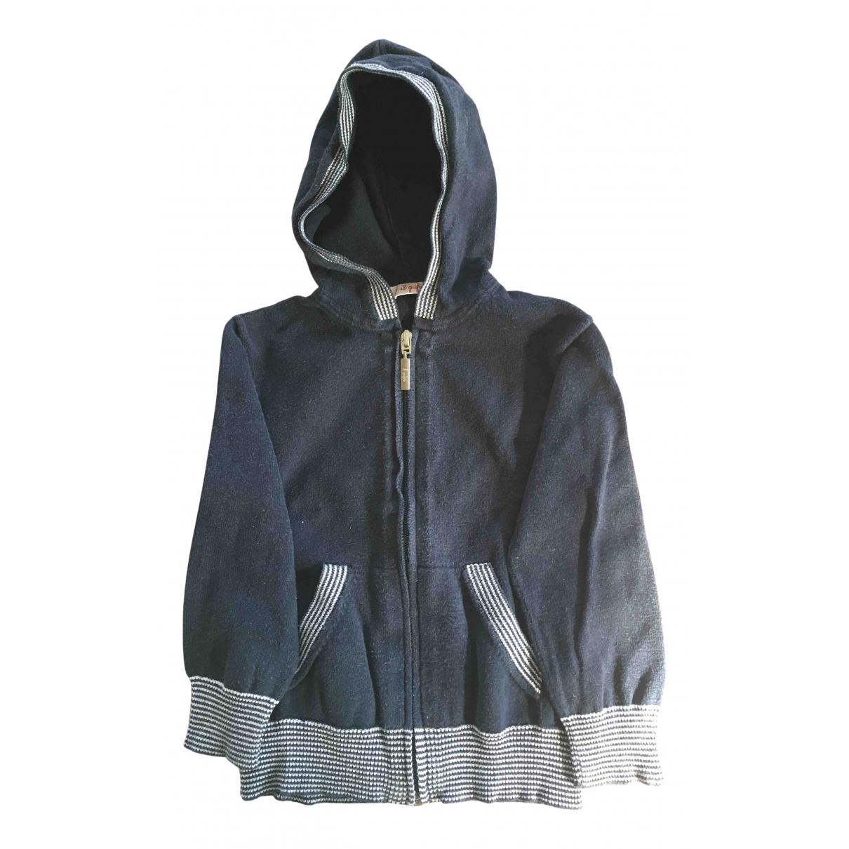 Il Gufo - Pull   pour enfant en coton - bleu