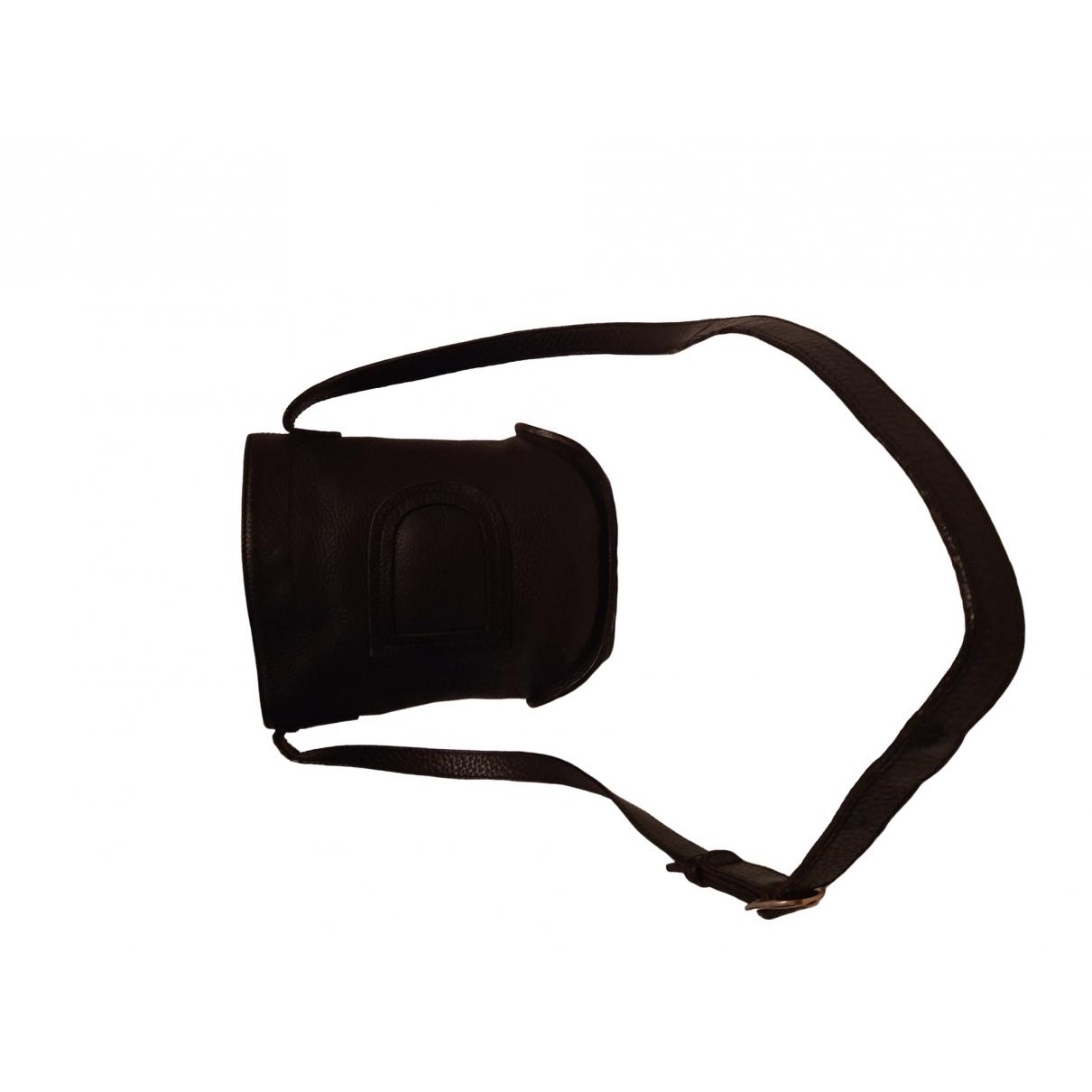 Delvaux Pin Handtasche in  Schwarz Leder