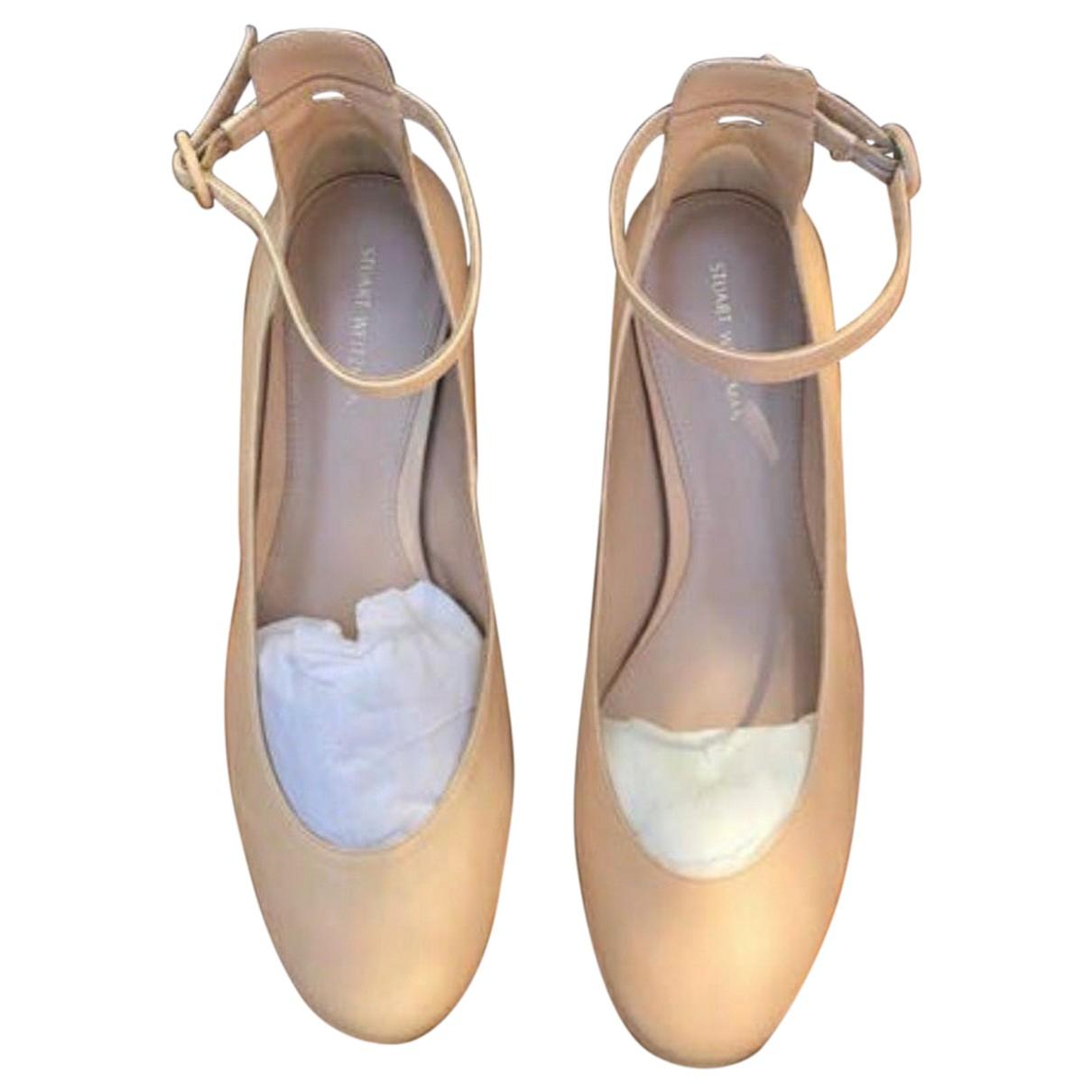 Stuart Weitzman N Ecru Fur Ballet flats for Women 38 EU