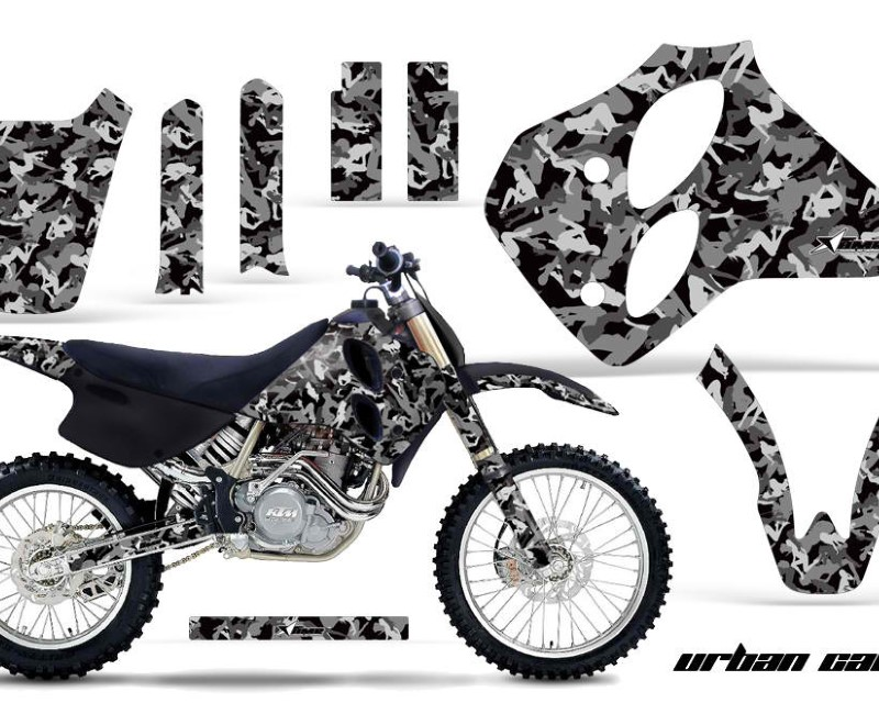 AMR Racing Dirt Bike Graphics Kit Decal Sticker Wrap For KTM SX/XC/EXC/LC4 1993-1997áURBAN CAMO BLACK