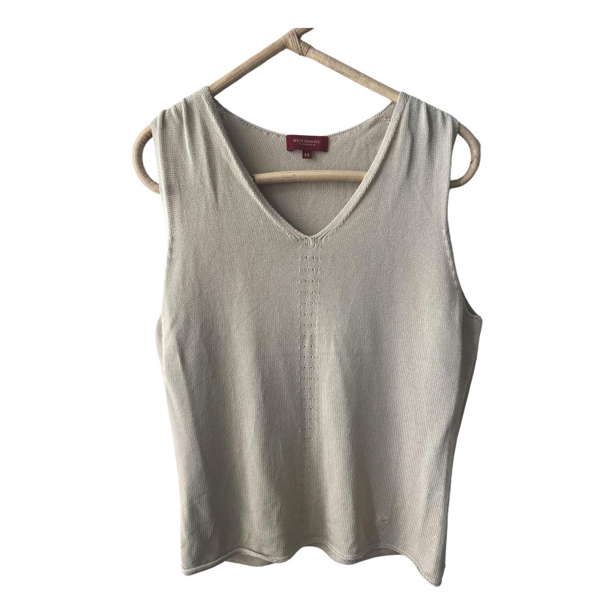 Burberry \N Beige Cotton Knitwear for Women 44 IT
