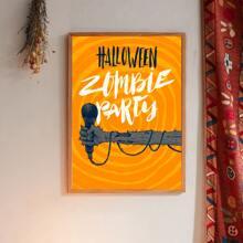 Wandmalerei mit Halloween Buchstaben Grafik ohne Rahmen