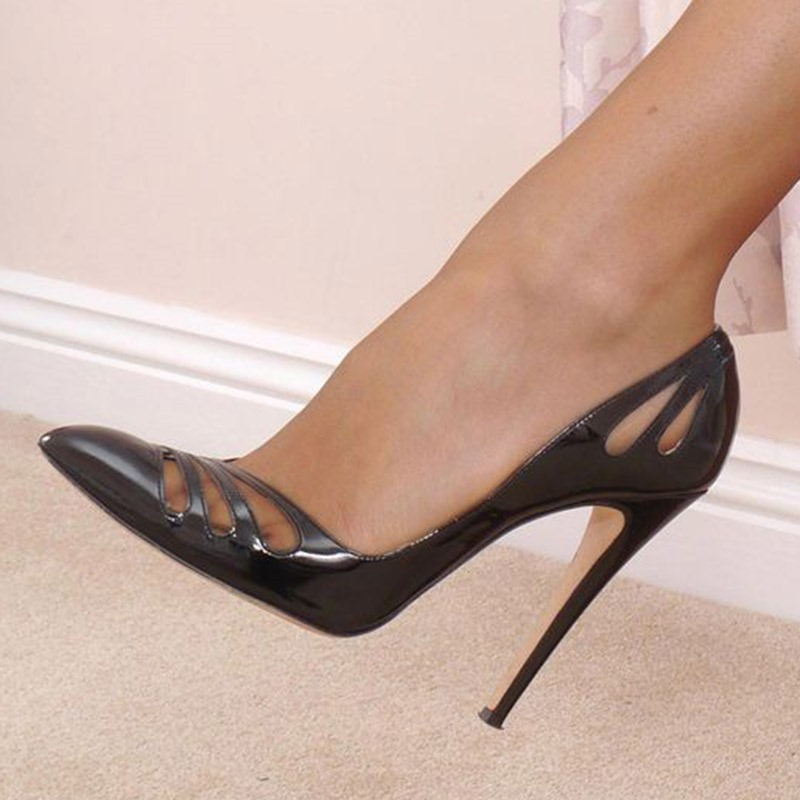 Ericdress Plain Stiletto Heel Hollow Pointed Toe Women's Prom Shoes