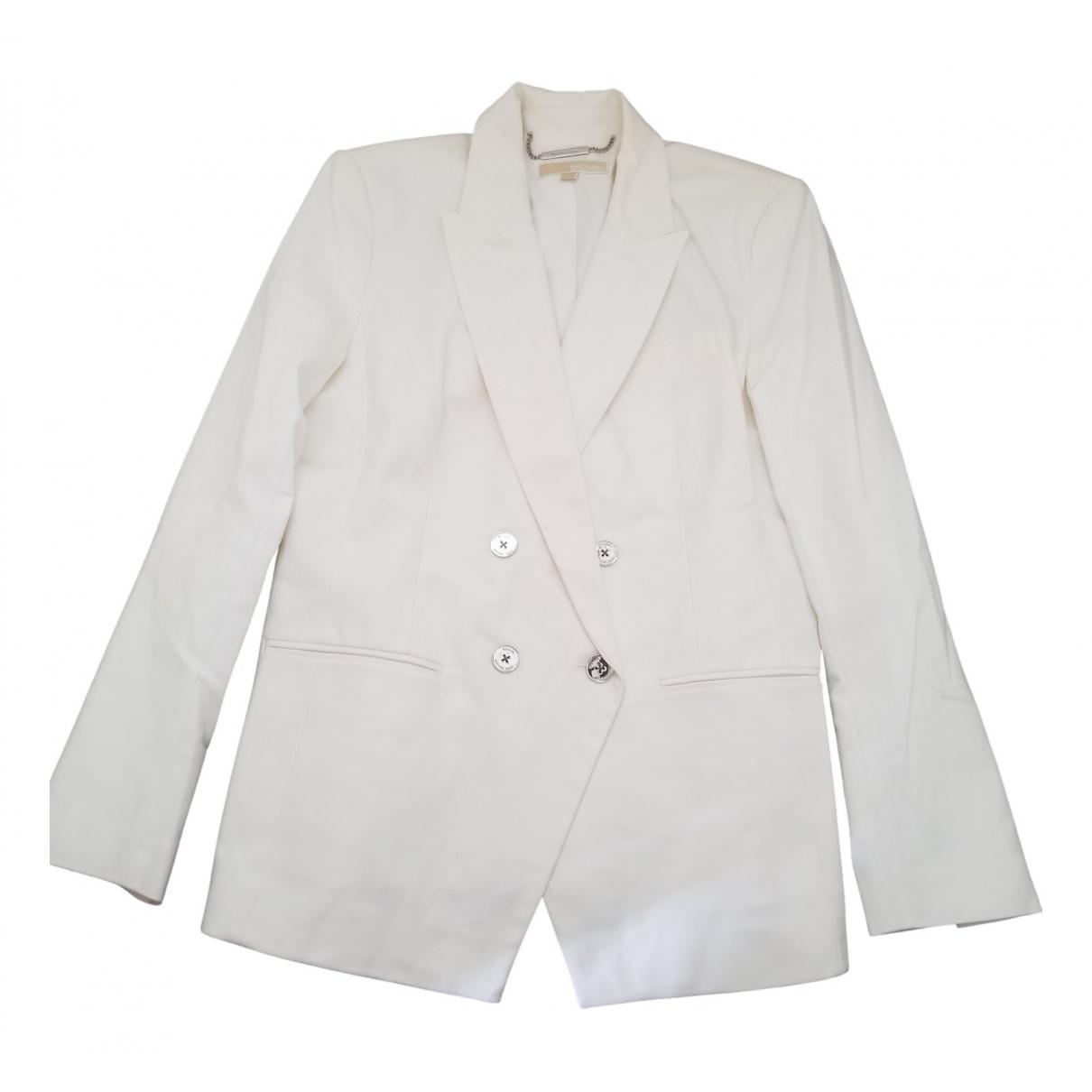 Michael Kors - Veste   pour femme en coton - blanc