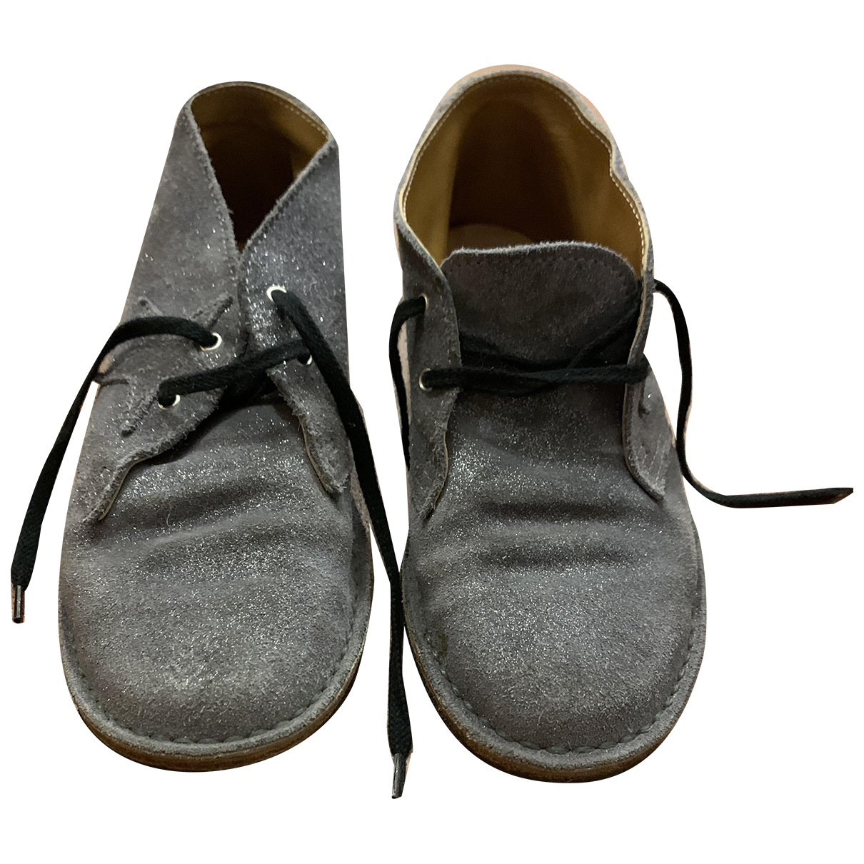 Golden Goose N Grey Suede Lace up boots for Kids 35 FR