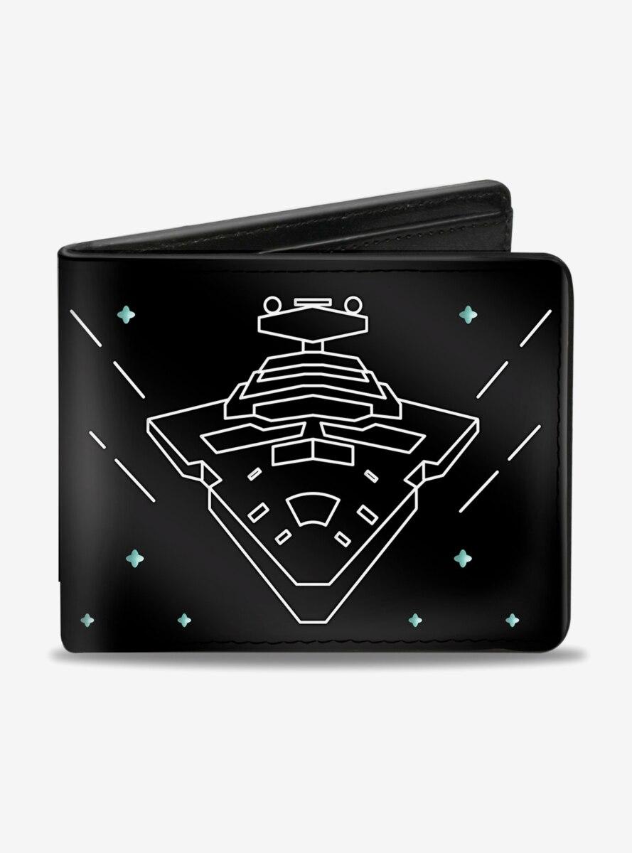 Star Wars Imperial Star Destroyer Death Star Tie Fighters Bi-Fold Wallet