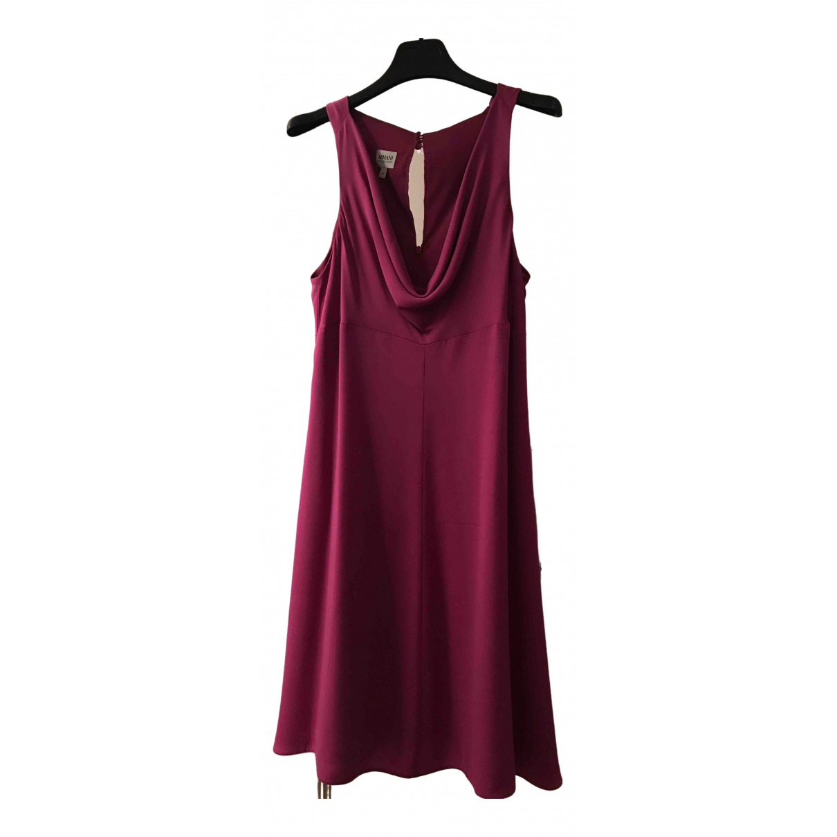 Armani Collezioni \N Kleid in  Rosa Seide