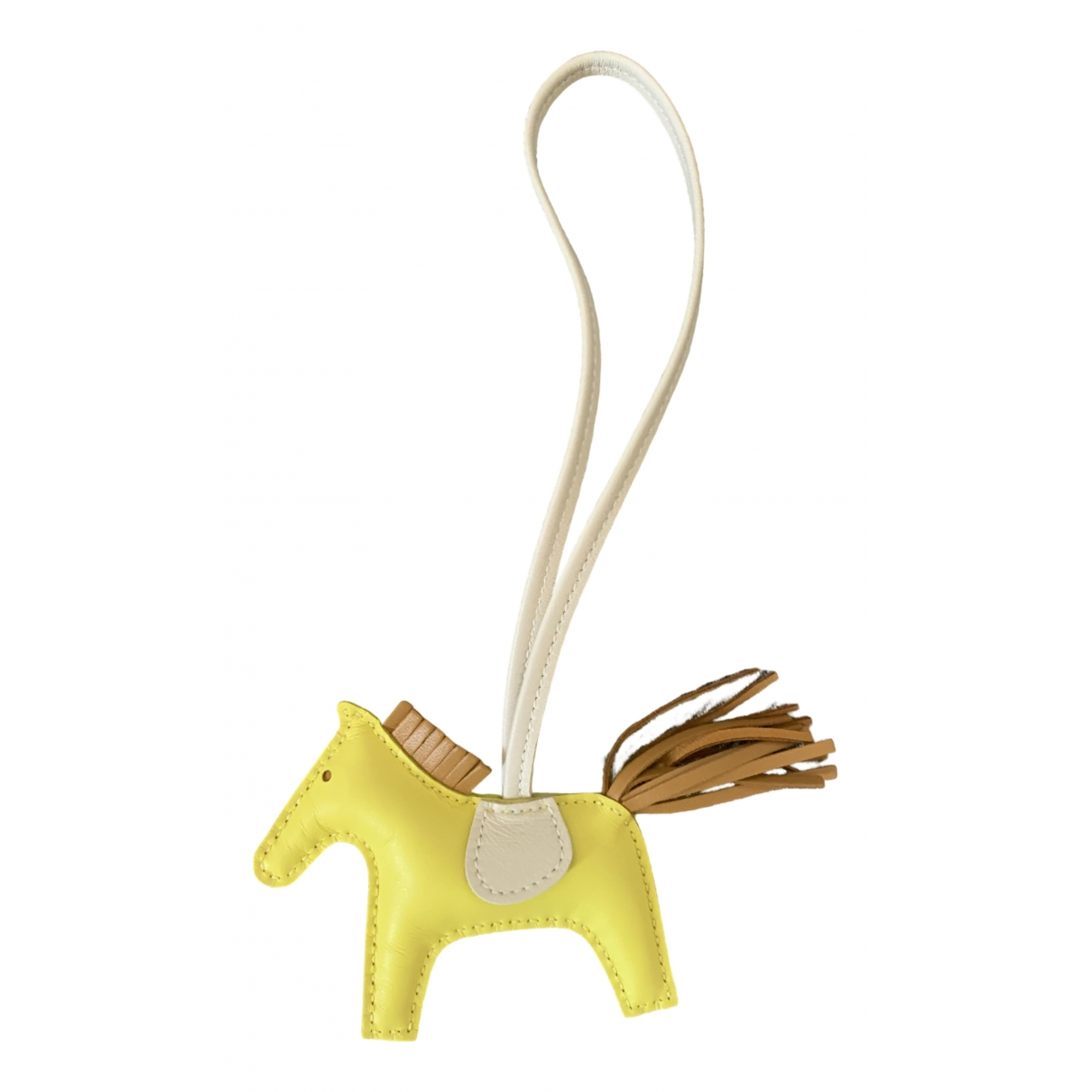 Hermès Rodeo Yellow Leather Bag charms for Women \N